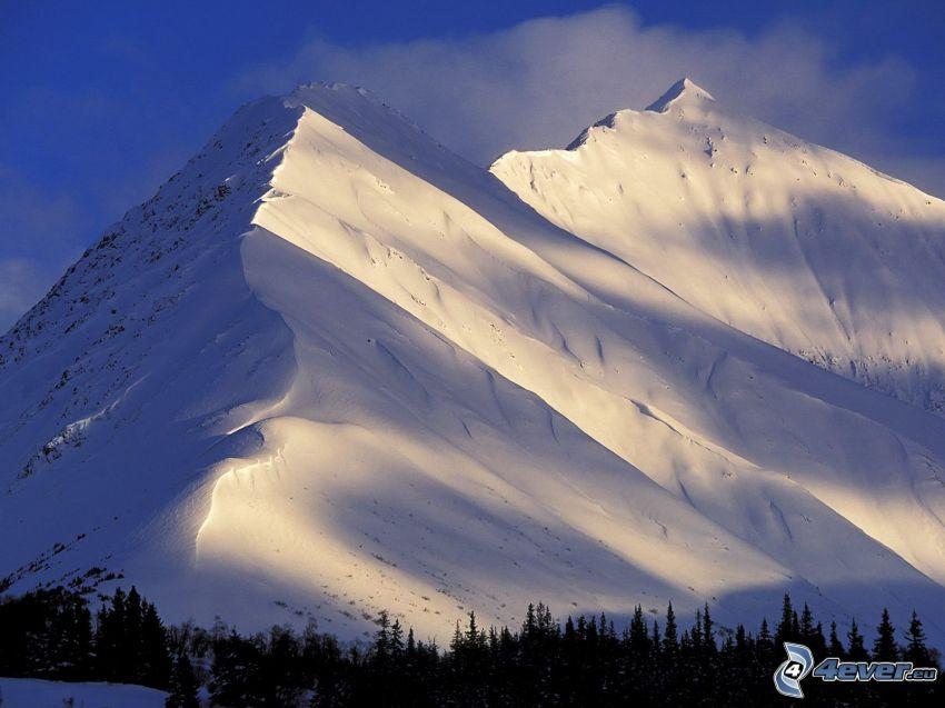 Mountain Summit, kullar, snö