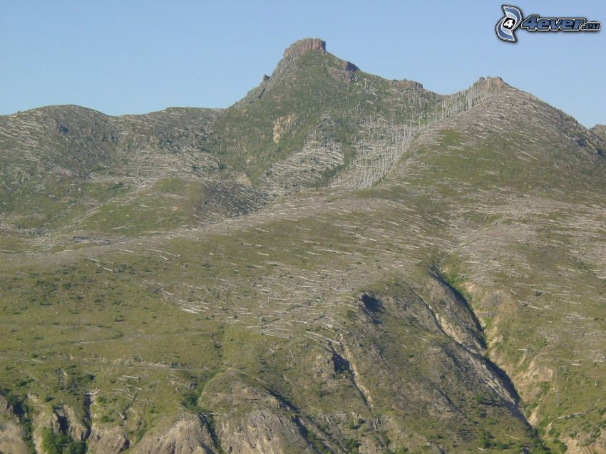 natur, kulle, bergstopp