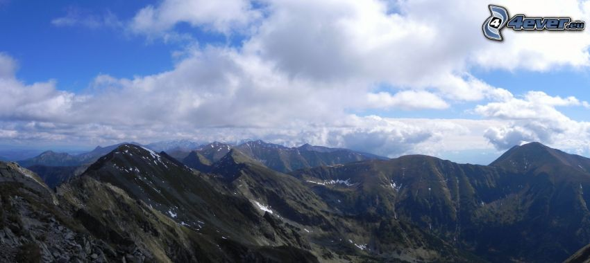 Roháče, Höga Tatras, panorama, utsikt