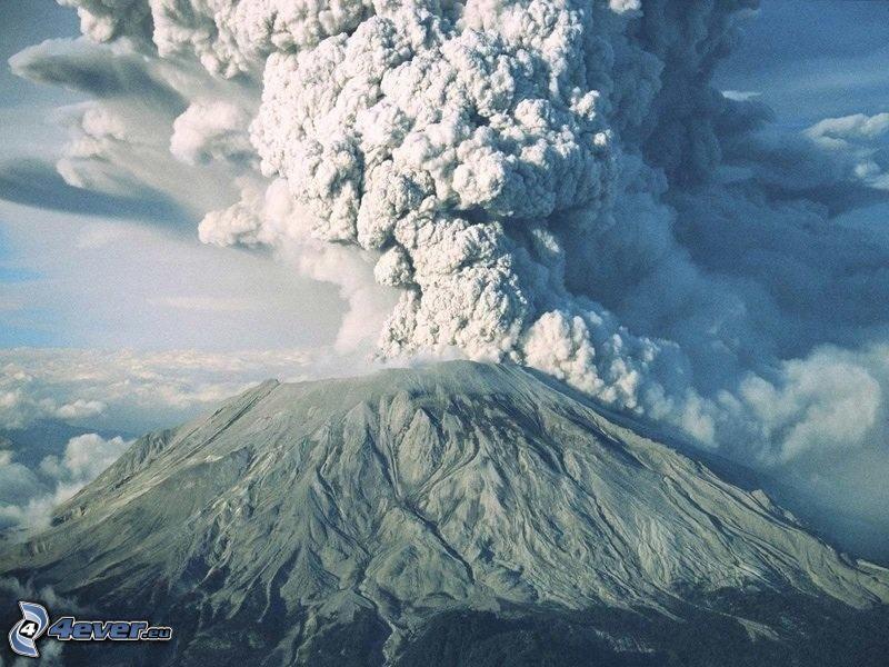 Saint Helens, vulkan, vulkaniskt moln