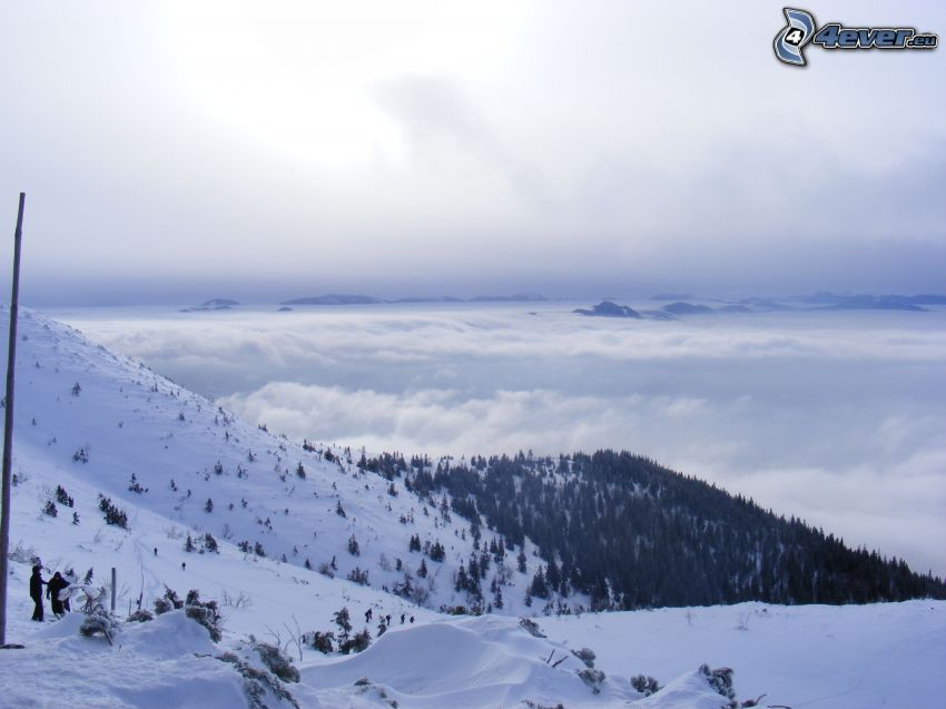 snö, berg