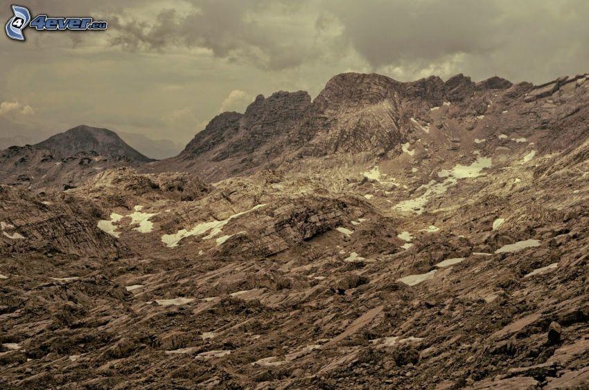 Totes Gebirge, klippor