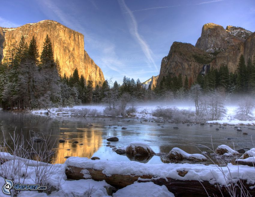 El Capitan, Yosemite National Park, flod