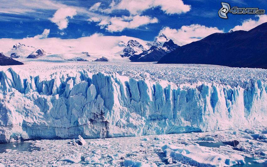 glaciär, Patagonien, Argentina