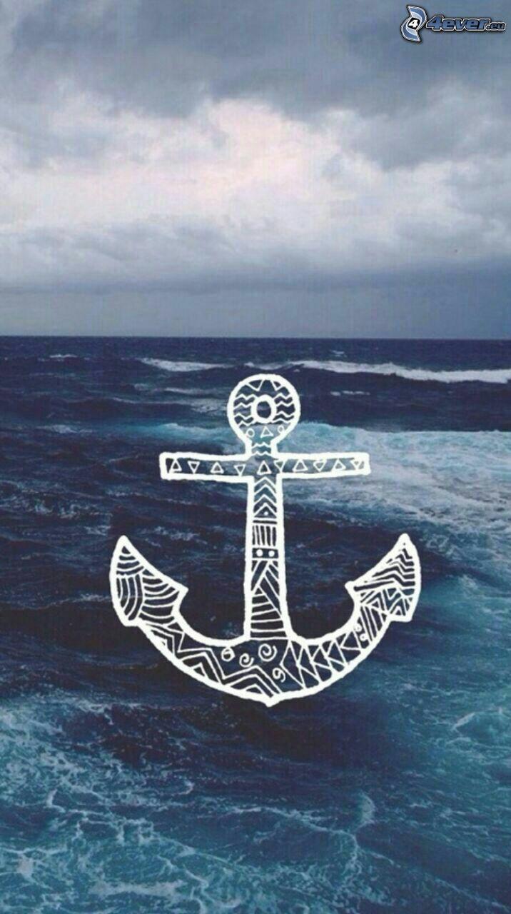 ankare, öppet hav