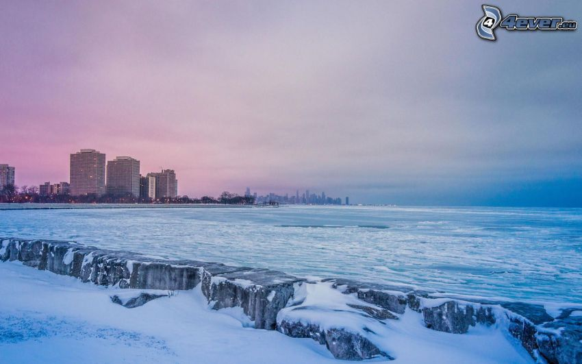 Chicago, hav, efter solnedgången