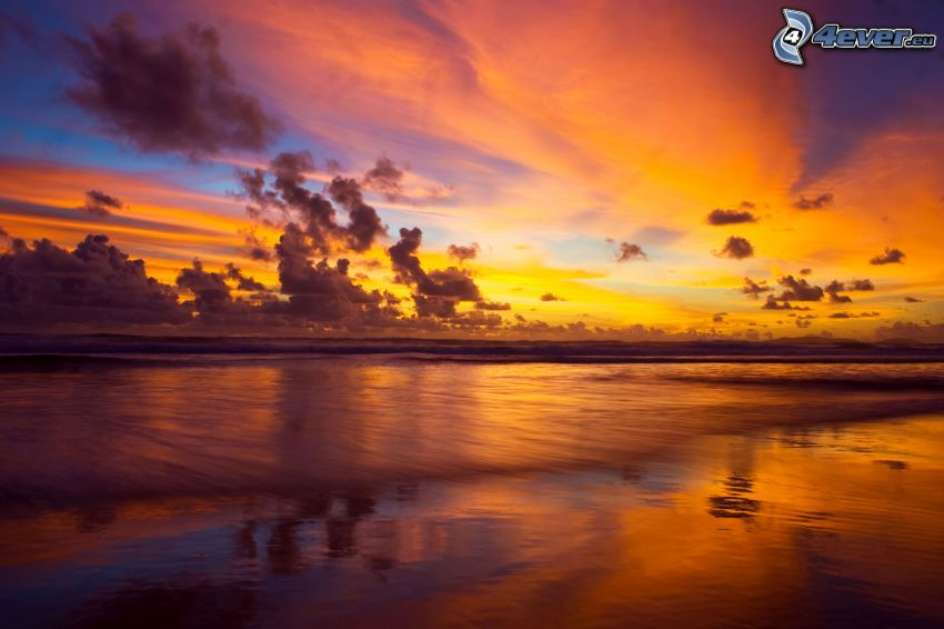 efter solnedgången, hav