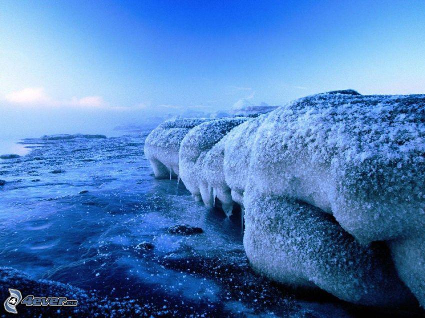 glaciär, hav