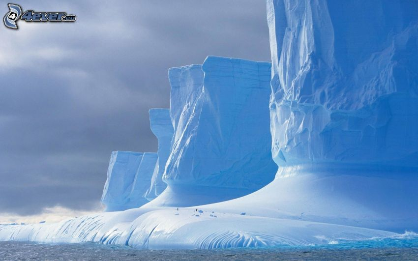 glaciärer, hav
