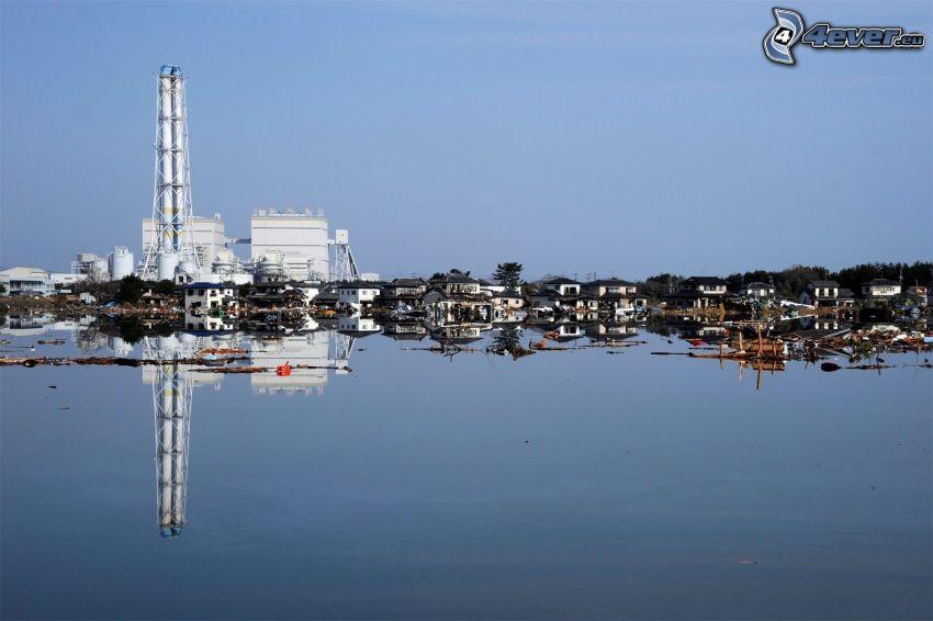 hamn, fabrik