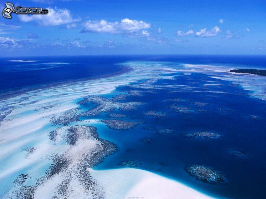 hav, himmel, flygfoto