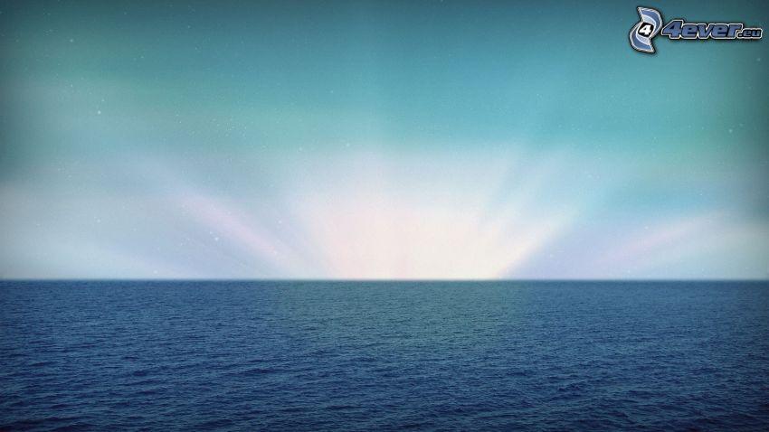 hav, himmel