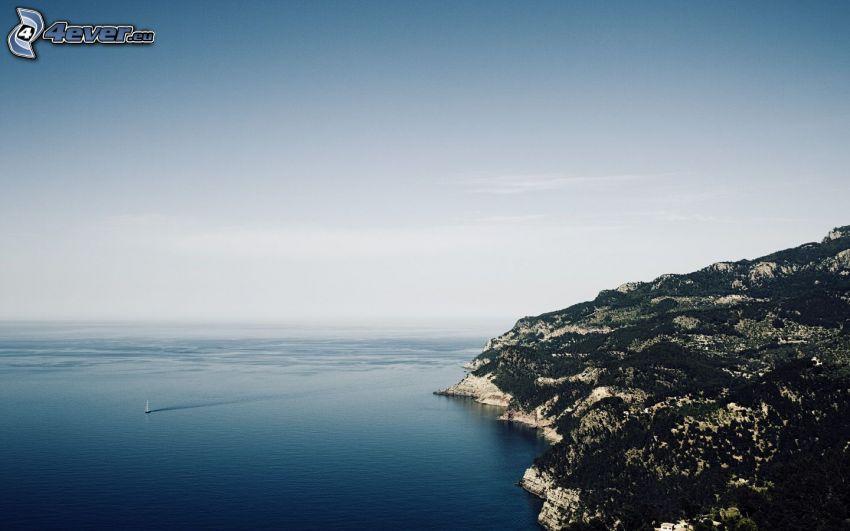 hav, klippor vid kusten
