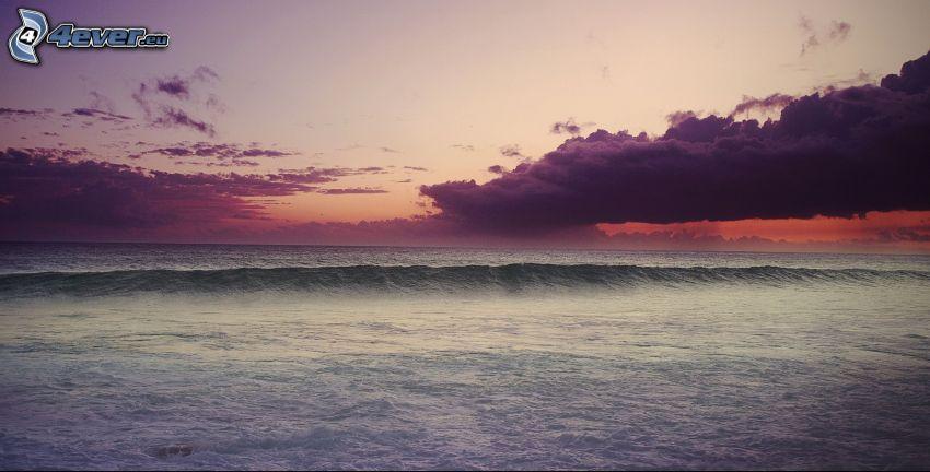 hav, moln, våg