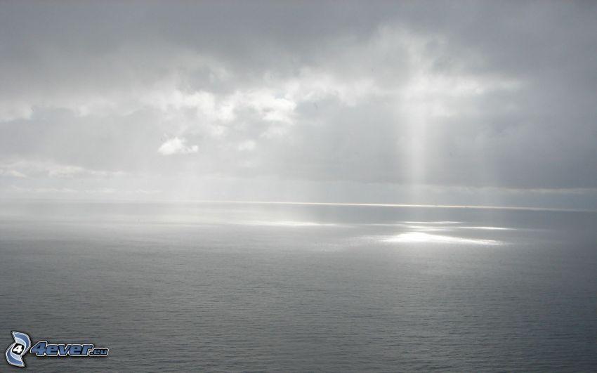hav, solstrålar