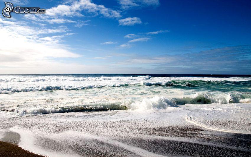 hav, vågor, strand