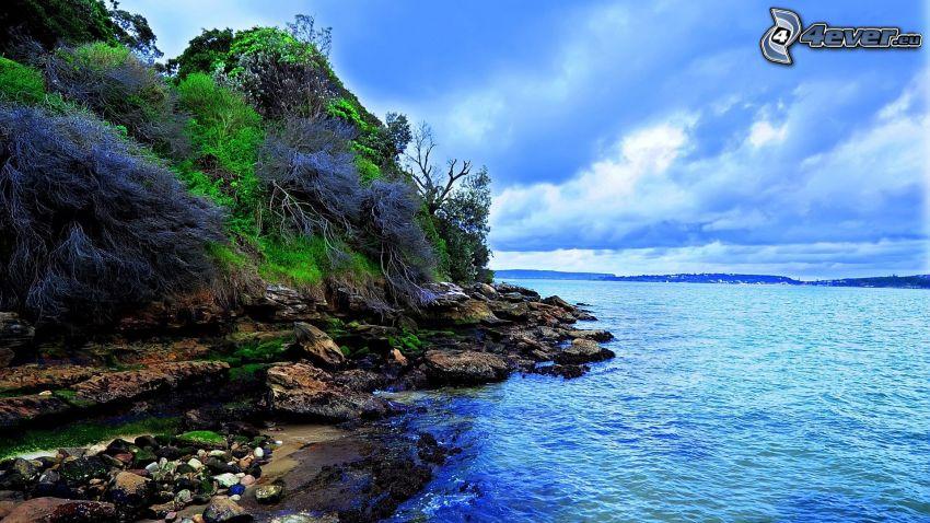 klippstrand, hav