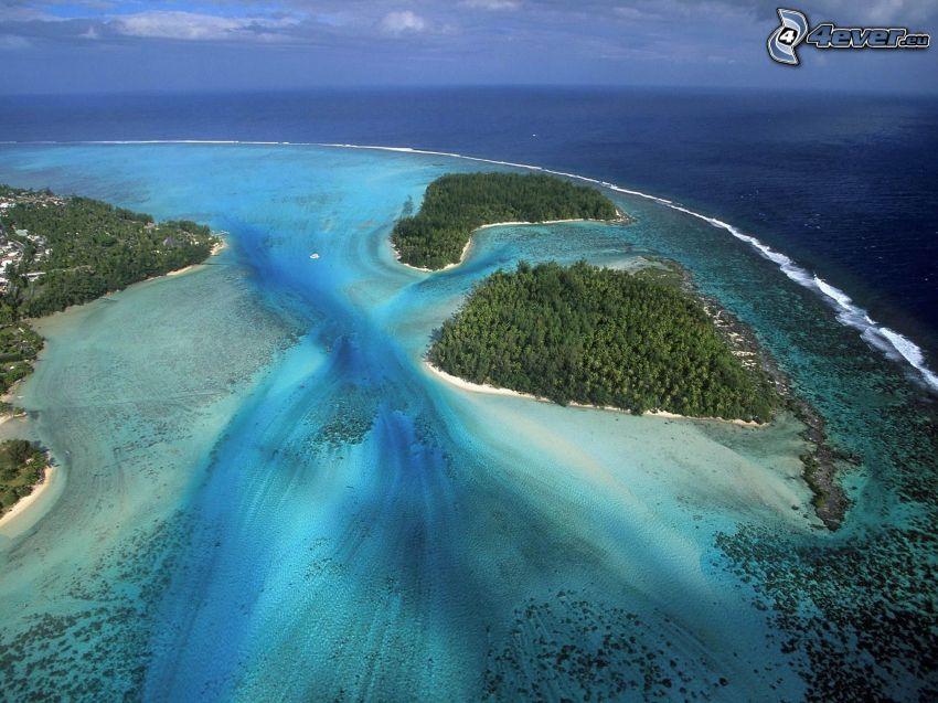 öarna Moorea, hav