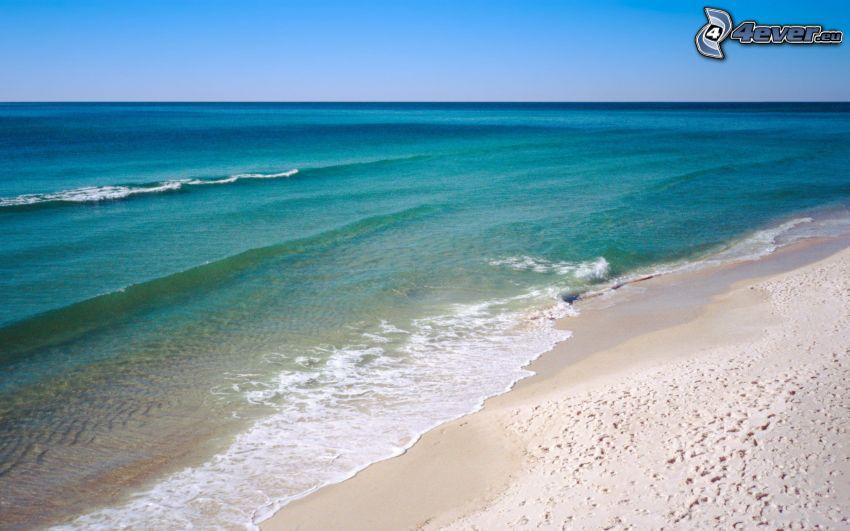 öppet hav, sandstrand