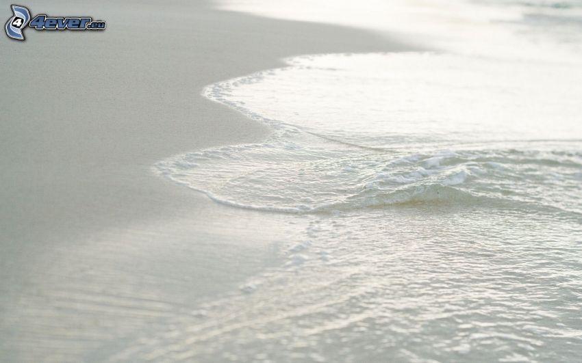sandstrand, vatten, hav