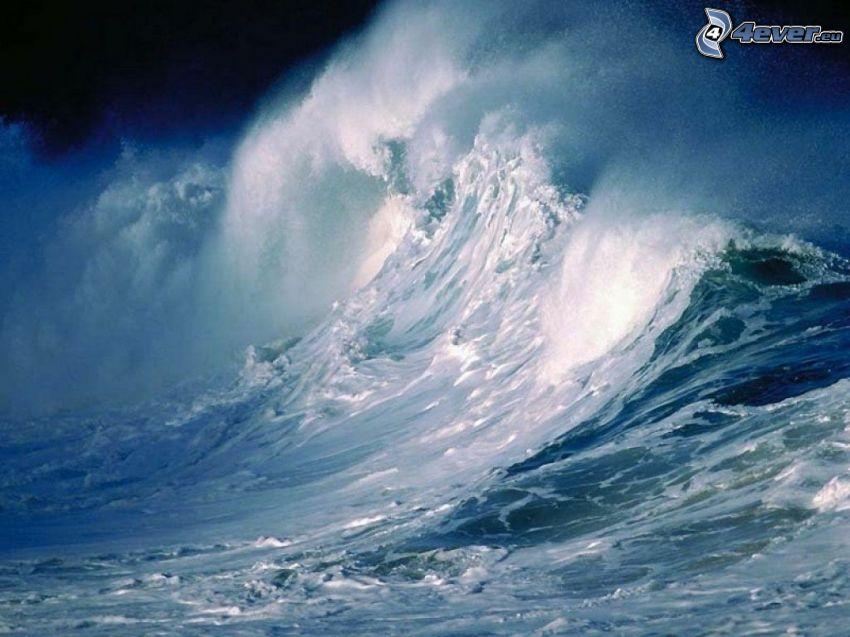 stormigt hav, vågor, ocean