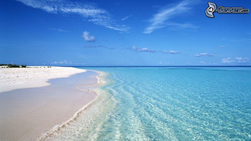 strand, azurblå sommarhav