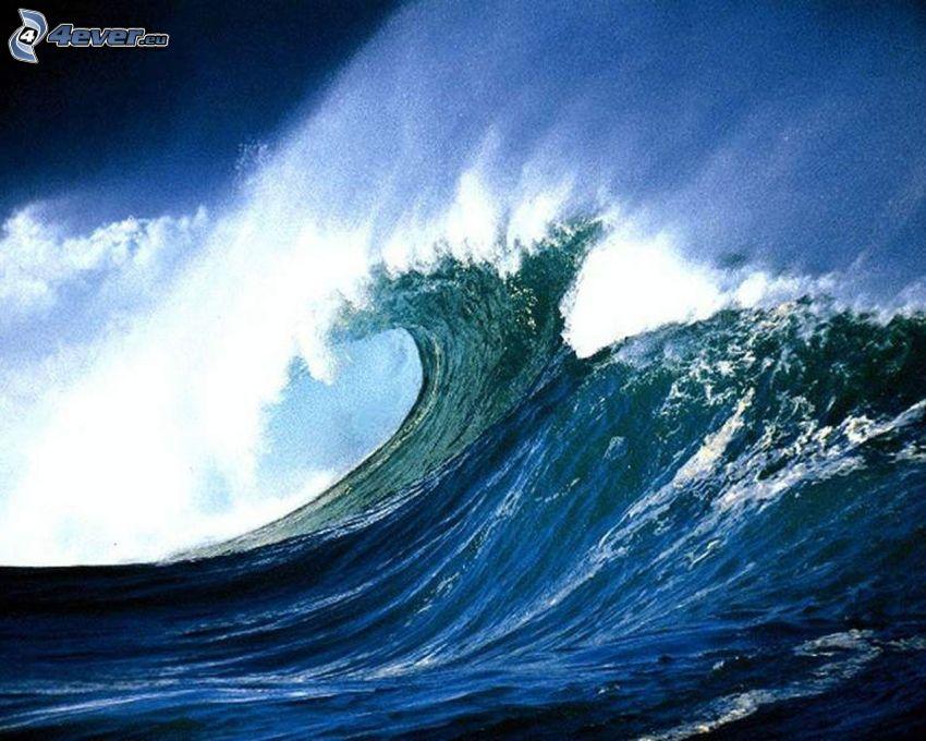 vågor, stormigt hav