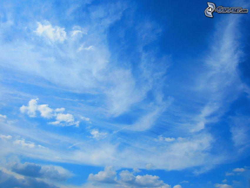 blå himmel, moln