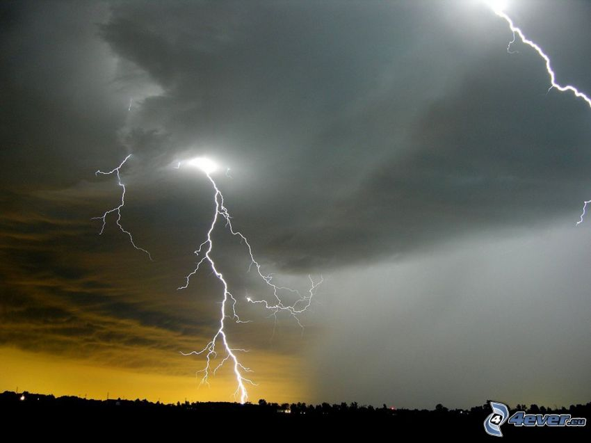 blixt, storm