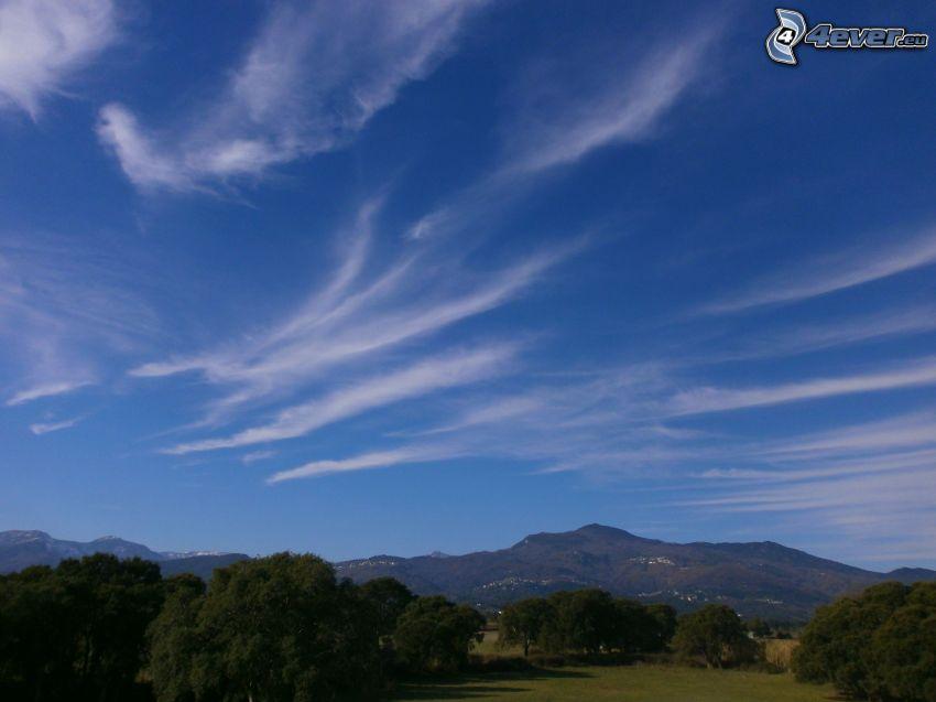 Korsika, blå himmel, landskap