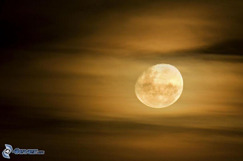 Månen, moln