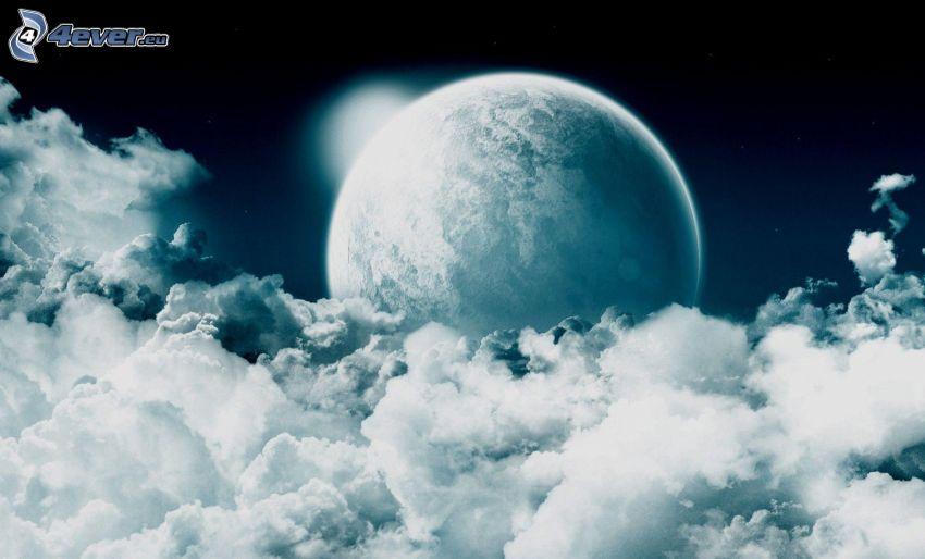 planet, moln