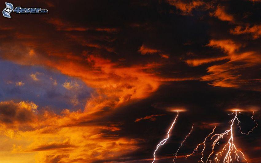 storm, mörka moln