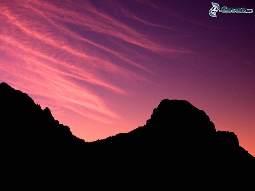 kulle, lila himmel
