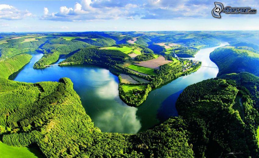 flod, skogar och ängar, Luxemburg