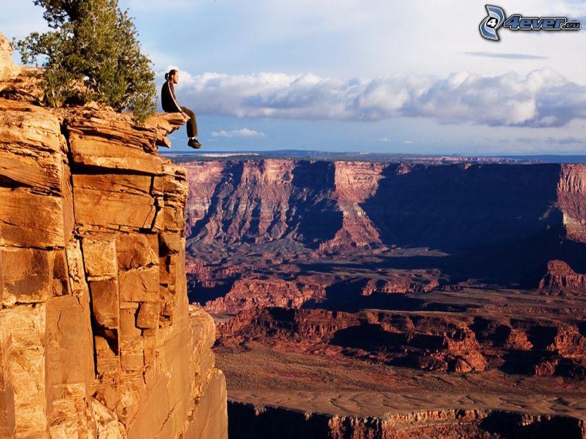 Grand Canyon, USA, utsikt över dal, klippor