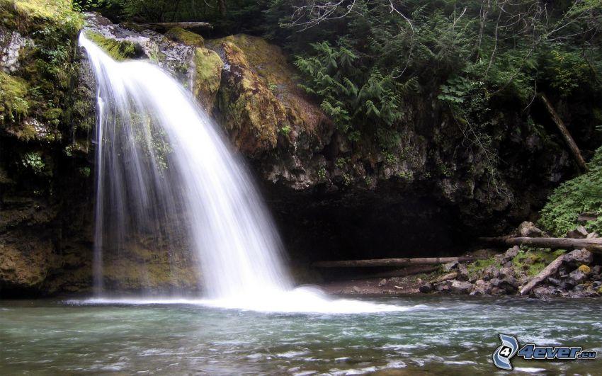 Ironcreek Falls, vattenfall, vatten, klippa