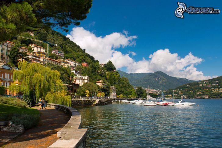 Italien, kust, yachter