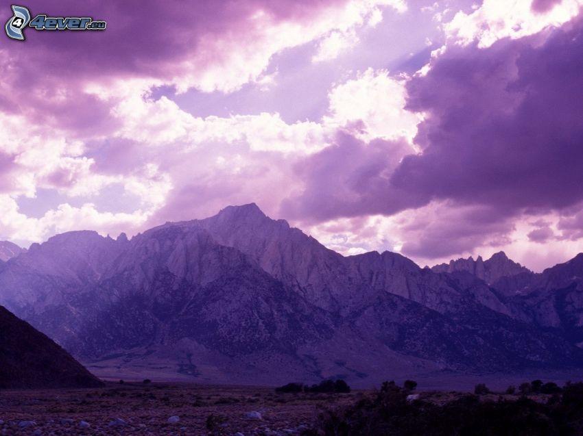 Mount Whitney, kullar, moln