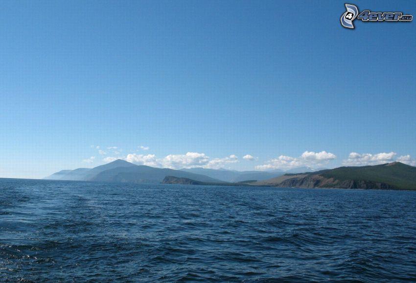 stor sjö, kullar