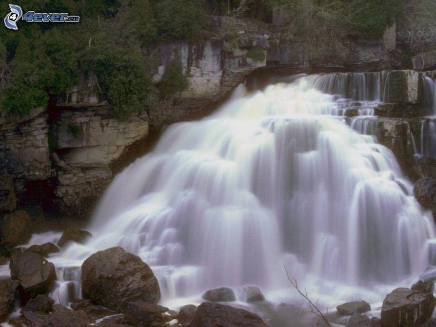 vattenfall, flod, natur