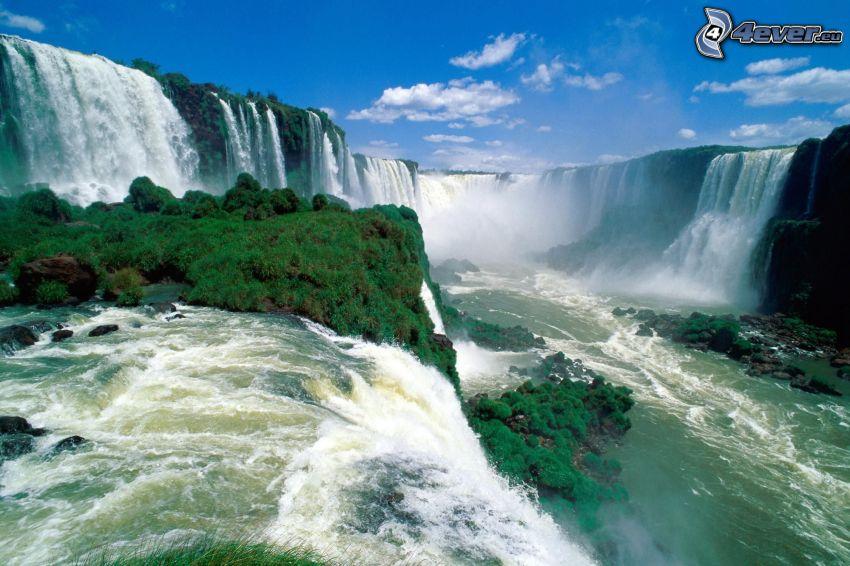 vattenfallen Iguazu, Brasilien, flod