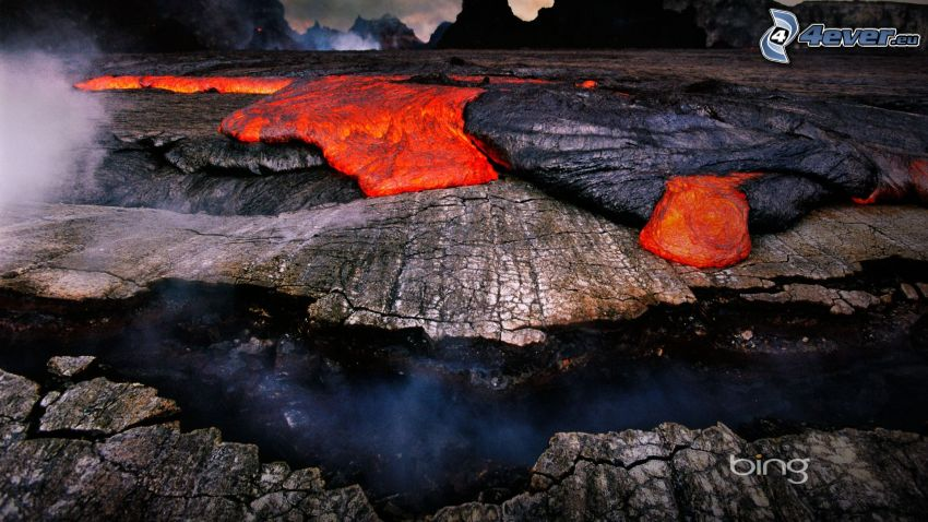 lava, stenar