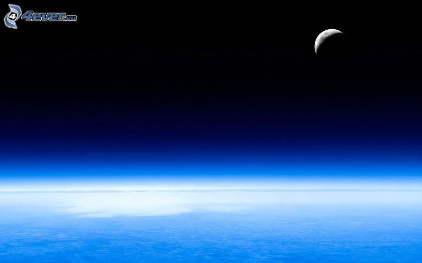 Månen, hav, atmosfär