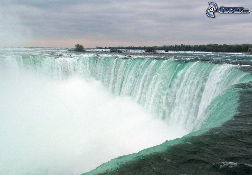 Niagaras vattenfall, himmel