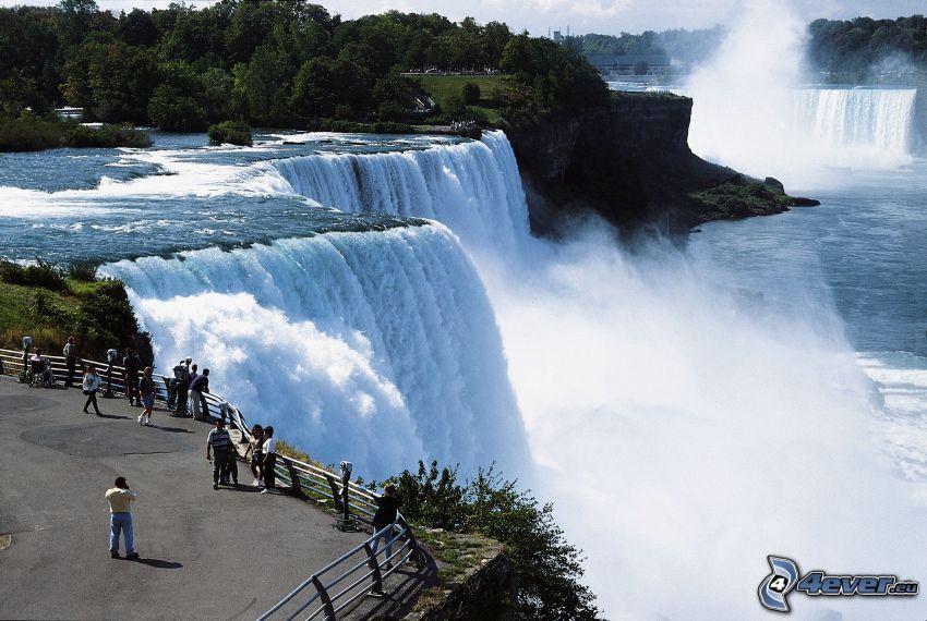 Niagaras vattenfall, utsikt, människor