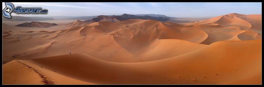 öken, sanddyner, fotspår i sanden