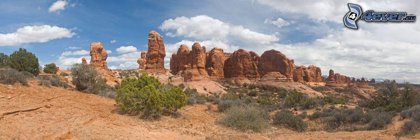 ökenklippor, panorama