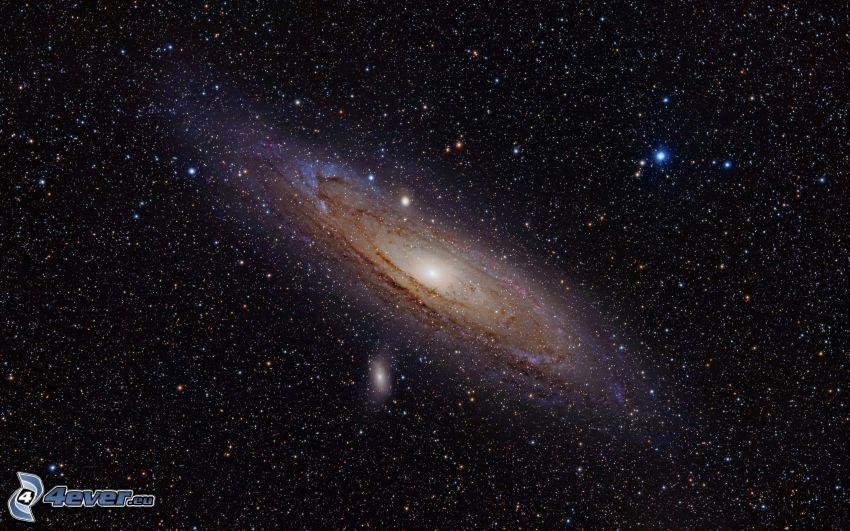 Andromeda, galax, stjärnor