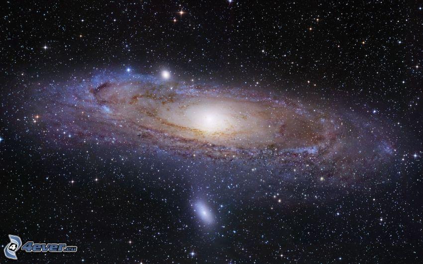 Andromeda, spiralgalax, stjärnor